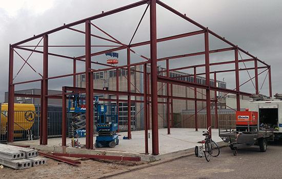 constructiebedrijf de groot stalen bedrijfshal constructie