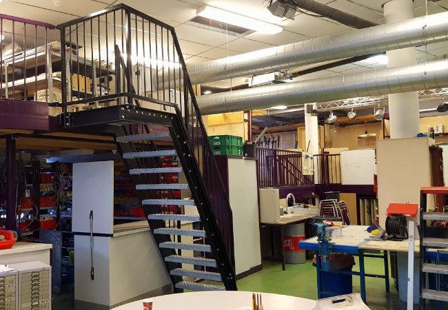 magazijntrap in het technieklokaal van hetkennemer college te heemskerk